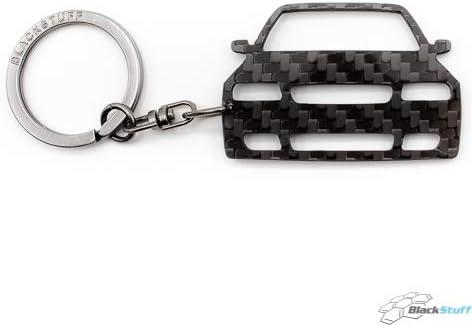 BlackStuff Carbon Fiber Keychain Keyring Ring Holder Compatible with A3 S3 8L 1996-2003 BS-781