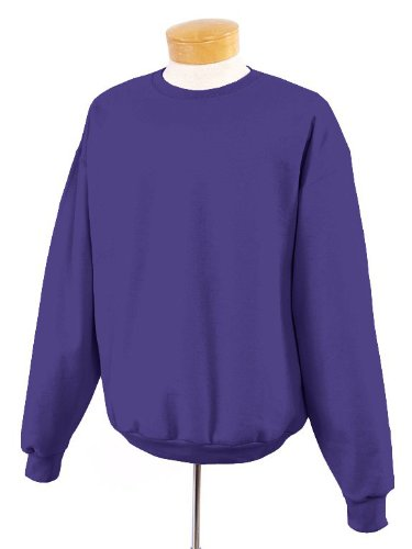 Jerzees 4662M Unisex SUPER SWEATS Crewneck Sweatshirt Black Large - Jerzees Mens Heavyweight Fleece
