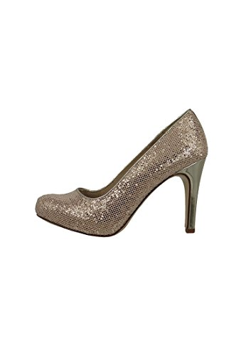 heel Gold Pumps 37 with glamor Gold 1 high sole TOUCH 940 IT Tamaris 22441 E1wCaqC