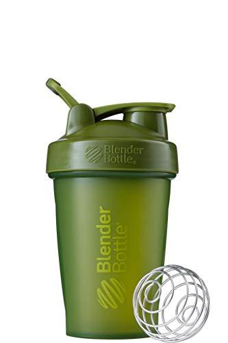 BlenderBottle C01621 Classic Loop Top Shaker Bottle, 20oz, Moss Green/Moss Green