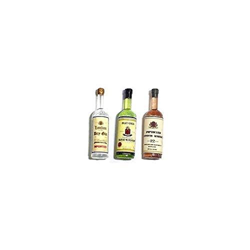 Bottle Of Gin - Dollhouse Miniature 1:12 Scale Liquor Bottles, Gin/Irish Whiskey/Scotch