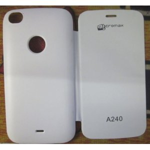 new style 03efc 161e2 Combo Micromax Canvas Doodle2 or A240 Flipcover-White + Screen Guard ...