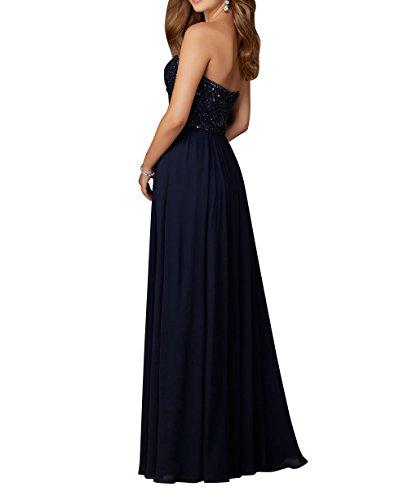Abendkleider Abschlussballkleider Brautjungfernkleider La Linie 2018 Blau A Chiffon Langes Promkleider Neu mia Navy Brau wPx6qg0
