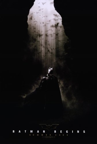 (11x17) Batman Begins Christian Bale in Cave Movie Poster (Movies That Begin With B)