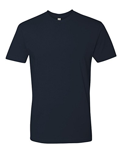 Next Level Premium Fit Extreme Soft Rib Knit Jersey T-Shirt, Midnight Nvy, Large (Cotton Tee Knit Jersey)