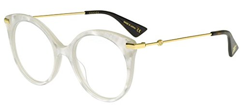 Eyeglasses Gucci GG 0109 O- 005 WHITE / - Gucci White Shades