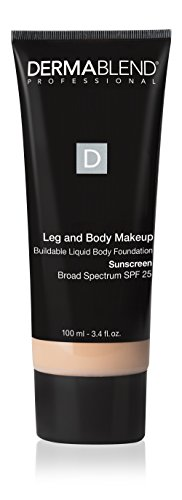 Dermablend Leg and Body Makeup Foundation with SPF 25, 3.4 Fl. Oz.