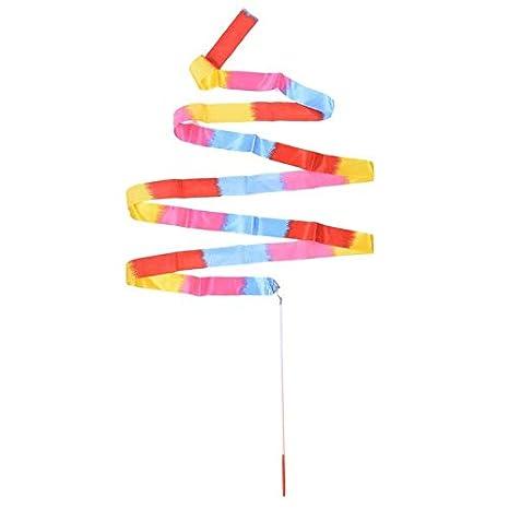 Gym Rhythmic Dance Ribbon Art Gymnastic Training Ballet Twirling Rod Streamer