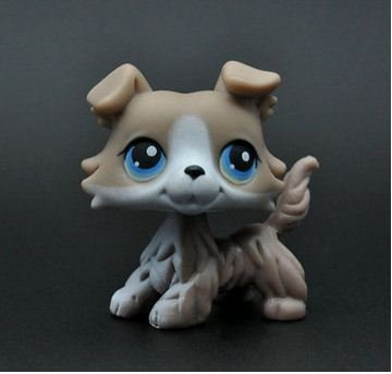 Five stars store Littlest Pet Shop Without Magnet Pet Collie Dog Child Girl Figure Toy Loose Cute + FREE GIFT