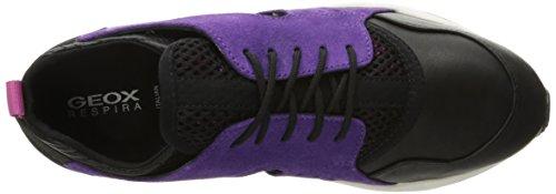 Blackc8227 Purple Baskets D Omaya Basses A Geox Femme Plus Violett zZw8B