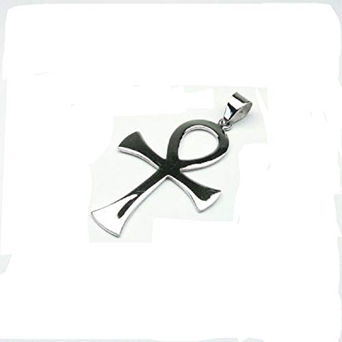 Sterling Silver Big Ankh Cross Pendant / Charm - Egyptian Jewelry - 925 Christian Cross Large ()