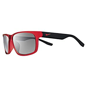 Nike Cruiser Team Sunglasses - EV0893 (Matte Crystal Challenge Red/Matte Black Frame (Grey w/Silver Flash Lens))