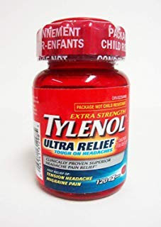 TYLENOL ULTRA RELIEF Extra Strength 120 EZTabs For Tension Headaches & Migraine Pain by Tylenol
