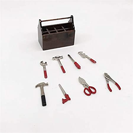 XIAOXX Mini Accesorios de Tiro de Escena de Muebles de Bolsillo Mini Caja de Accesorios Caja de Herramientas: Amazon.es: Hogar