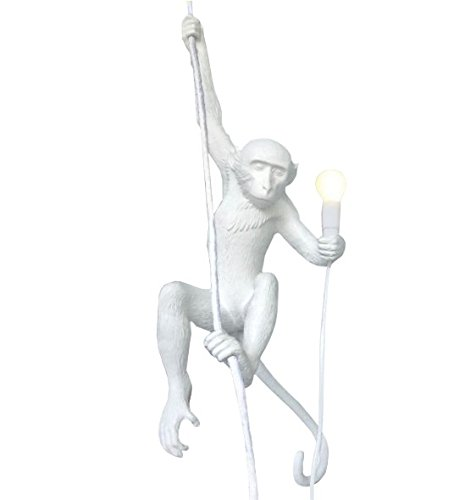 Seletti Monkey Lamp   Hanging With Rope White