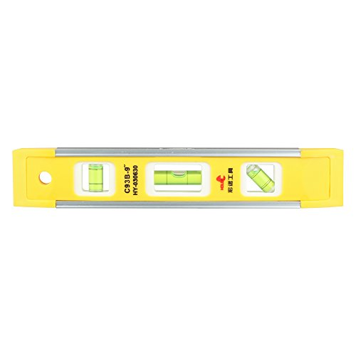 DOWELL 9 Inch Magnetic Box Level Torpedo Level,3 Different B