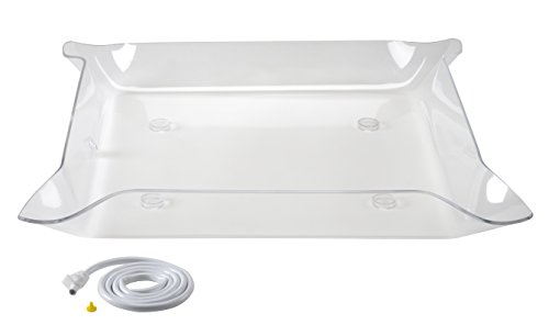 Glo-Ice - Small Clear Tray. 30'' x 30'' - Side Drain by Glo-Ice®