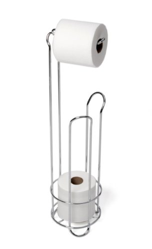 LUXURY CHROME TOILET ROLL HOLDER AND DISPENSER