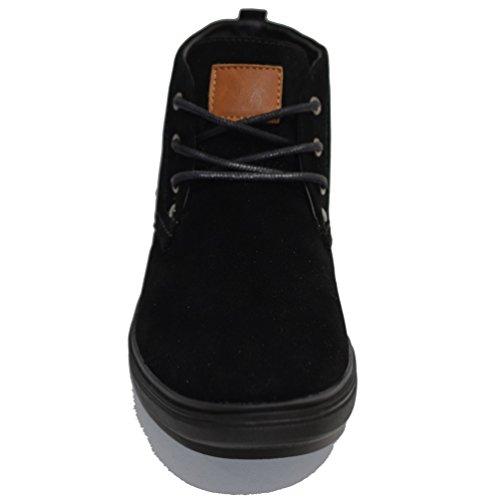 Baskets Daim collection 2016 Mi-haute noir - baskets, homme, casual, buisness, simple