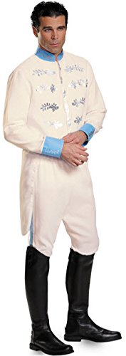 [Disguise Men's Prince Movie Adult Deluxe Costume, White, X-Large] (Prince Charming Costumes For Men)
