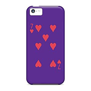 Premium Protection 7 Of Hearts Cases Covers For Iphone 5c- Retail Packaging