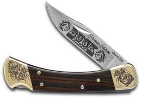 Buck 110 Premier Edition Ebony Wood Folding Hunter 1 250 Stainless Custom Pocket Knife Knives