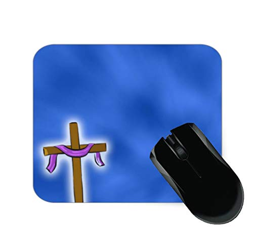 Christian Cross Clipart Mouse Pad 7.1 X 8.7 in