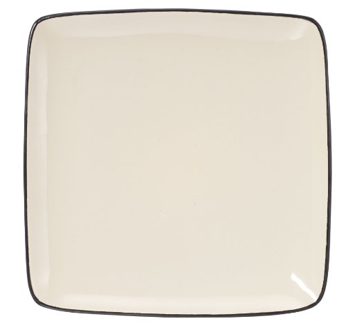 Cuisinart CDST1-DPW Melle Collection Stoneware Open Stock Square Dinner Plate, 10.5-Inch, Cream Color Collection Square Dinner Plate