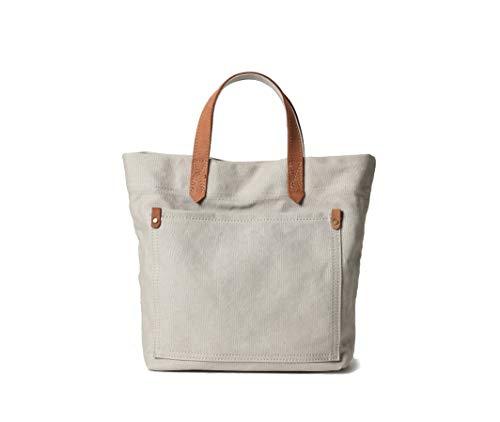 Jeelow Small Canvas Tote Bag Shoulder Bag 2-Way Handbag Crossbody Bags For Men & Women Adjustable Strap (Beige 2)