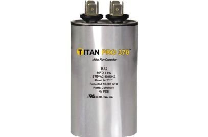 Packard TOC20 Motor Run Capacitor Oval / MFD: 20 / Volts: 370 from Packard