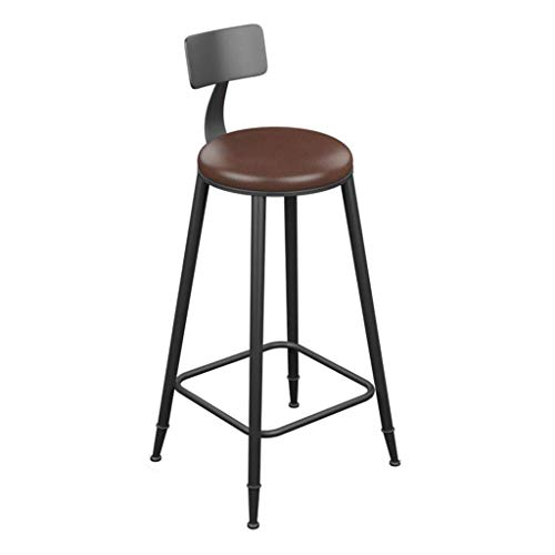 Iron Art Solid Wood Retro Bar Chair Industrial Style Modern Simple Backrest High Chair Reception Durable Household Kitchen Chair(Size : 404078CM) (Size : 404085CM)