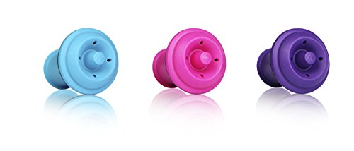 Vacu Vin Wine Saver Vacuum Stoppers Set of 6- Blue/Pink/Purple ()