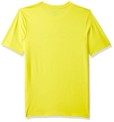 adidas Boys Tshirt Kids Young Essentials Linear Logo Tee Training DV1812 Yellow 2