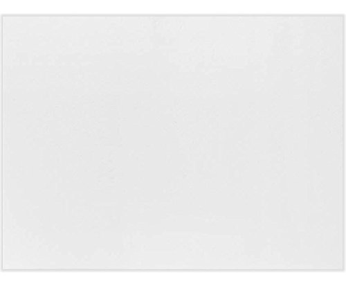 A6 Flat Card (4 5/8 x 6 1/4) - 100lb. Bright White (50Qty) | Perfect for Personal Stationery, Invitation Suite Inserts, Casual Correspondence and much more! | A6CW-50 ()