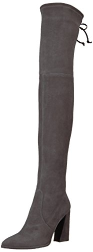 Stuart Weitzman Women's FUNLAND Over The Over The Knee Boot, Anthracite, 5.5 Medium US
