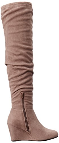 Chinese Laundry Women's Ultra Slouch Boot, Black Grey Suedette