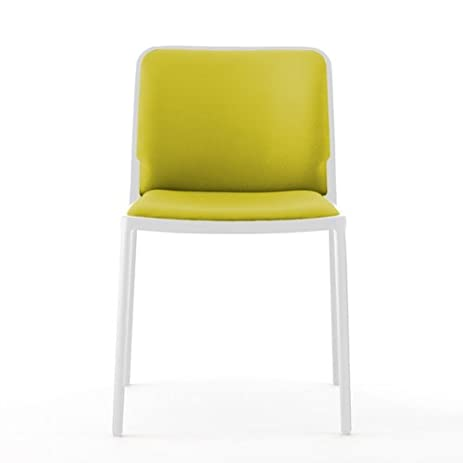Kartell Audrey Soft Chair By Piero Lissoni, Pack Of 2, Trevira Fabric Acid  Green
