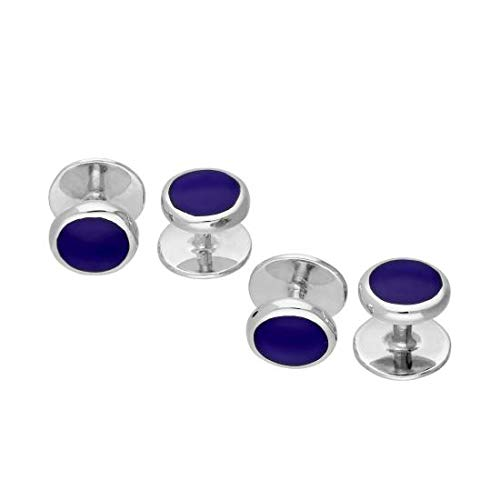 - Sterling Silver Lapis Shirt Studs