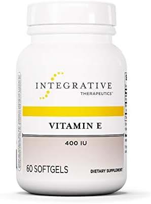 Integrative Therapeutics - Vitamin E - 400 IU Full-Tocopherol Form of Vitamin E - Supports Heart Health & Free-Radical Detoxification - 60 Softgels