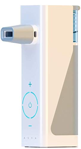 (Avya Portable Heated Steam Inhaler/Nasal Rinse Irrigation System Battery Operated *Fast Natural Relief from Sinus Congestion, Colds and Allergies. 5 Ampules Sea Salt Saline Included)