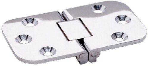 Brunswick Square End Hinge 2-Pin Flush ATTWOOD Corp 2-Pin Flush Stamped Stainless Steel