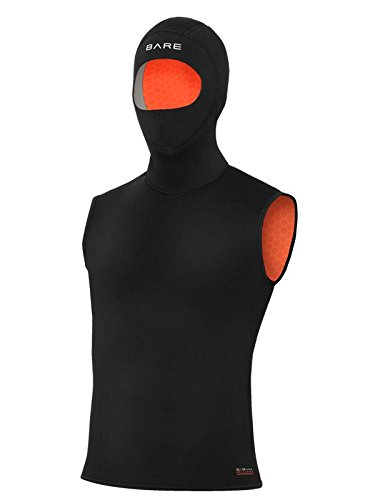 Bare 5/3mm Ultrawarmth Hooded Vest Mens Scuba Diving Hooded Vest - - Hooded Scuba Diving Vest
