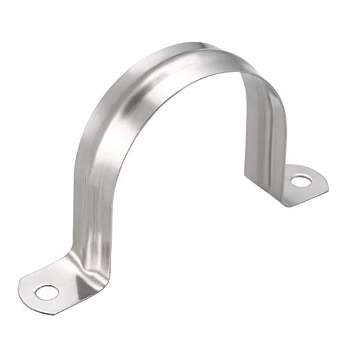 (uxcell 60mm Rigid Pipe Strap, 304 Stainless Steel, 2 Holes Clamps, 5 Pcs )