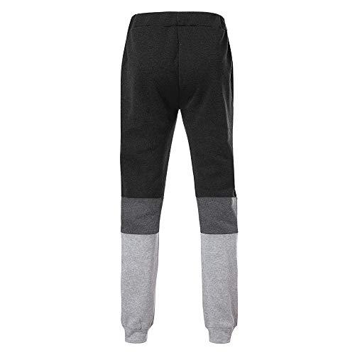 Solike Slim Pantalon Pants Bas De Longue Sportwear Gym Jogger Running Workout Homme Élastique Sweatwear 2 Fit Taille Sport Noir Survêtement Jogging Décontracté rvqBrx