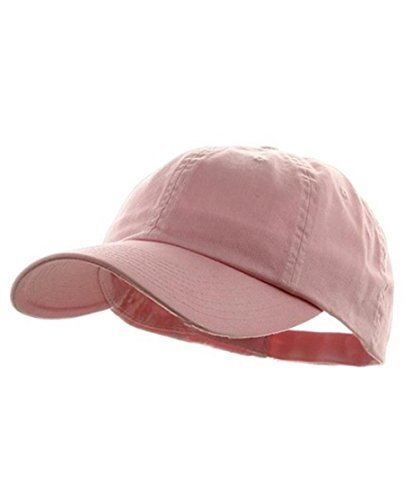 Wholesale Low Profile Dyed Soft Hand Feel Cotton Twill Caps Hats (Light Pink) - 21208 (Hats For Wholesale)