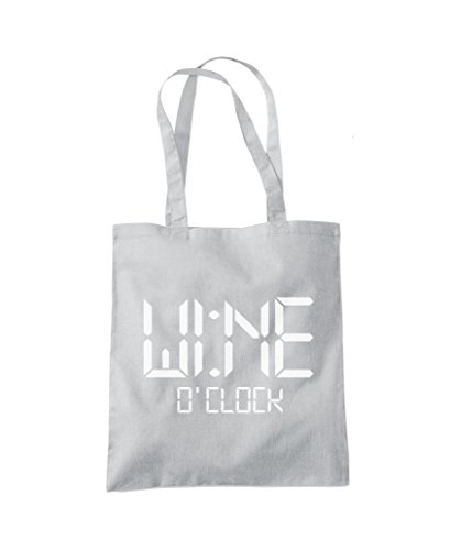 Light Tote Shopper Grey O'Clock Bag Fashion Wine pUWwvgqXH