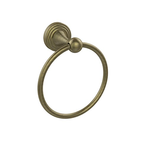 Allied Brass SG-16-ABR 6-Inch Towel Ring, Antique Brass - Brass 6 Inch Towel Ring