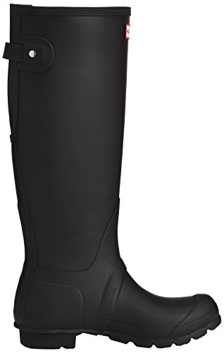 Hunter Womens Original Back Adjustable Rain Boots Black