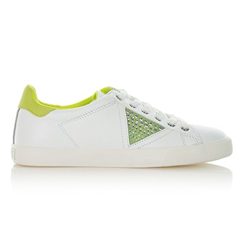 Guess FLLN1LEA12 - Zapatos de cordones de Piel para mujer blanco Lima M
