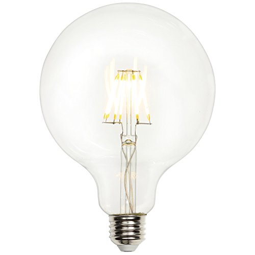 Westinghouse Lighting 0317400 5W (40W) G40 Globe Dimmable Warm White Filament LED Light Bulb with Medium Base